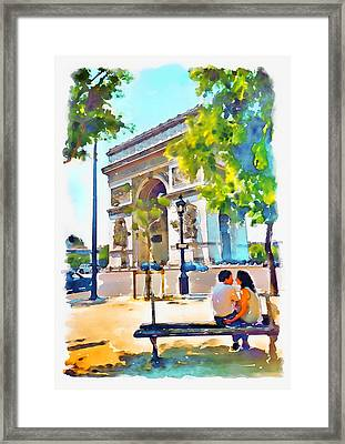 The Arc De Triomphe Paris Framed Print by Marian Voicu