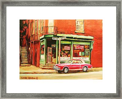 The Arcadia Five And Dime Store Framed Print by Carole Spandau