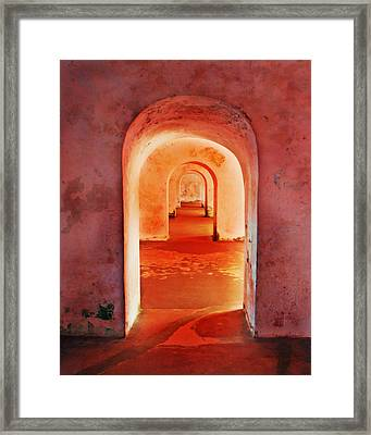 The Arches Framed Print by Perry Webster