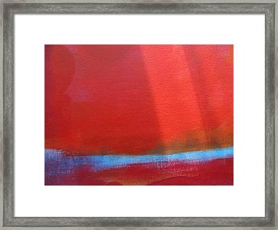 The Arctic Grid Framed Print by Lindie Racz
