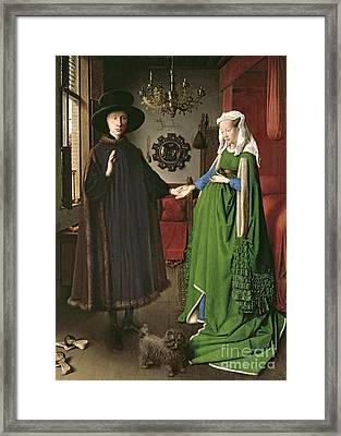 The Arnolfini Marriage Framed Print by Jan van Eyck