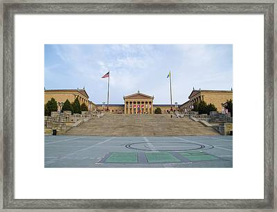 The Art Museum In Philly Framed Print by Bill Cannon