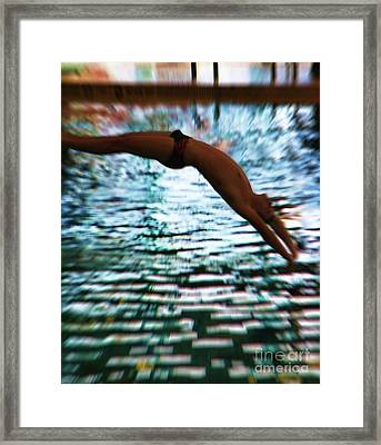 The Art Of Diving 5 Framed Print by Jeff Breiman