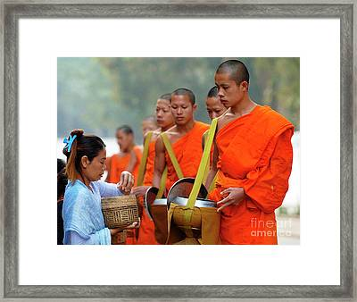 The Art Of Giving Framed Print by Bob Christopher
