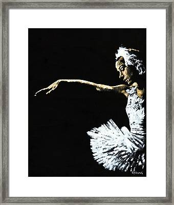 The Art Of Grace Framed Print by Richard Young
