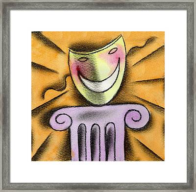 The Art Of Smiling Framed Print by Leon Zernitsky
