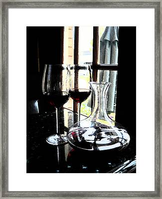 The Art Of Wine Framed Print by Alicia Morales