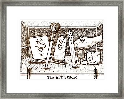 The Art Studio Framed Print by Cristophers Dream Artistry