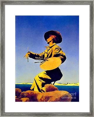 The Artist 1909 Framed Print by Padre Art