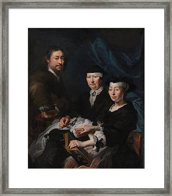 The Artist And His Family Framed Print by Mountain Dreams
