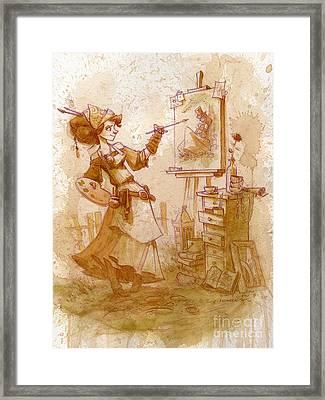The Artist Framed Print by Brian Kesinger