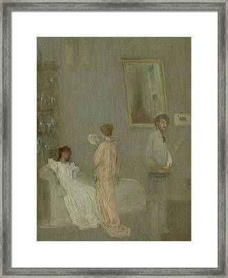 The Artist In His Studio Framed Print by James Abbott McNeill Whistler