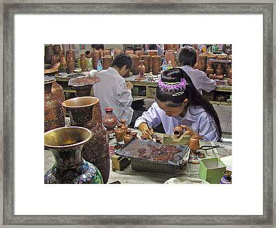 The Artist Framed Print by Jean Hall