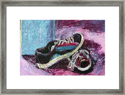 The Artists Shoes Framed Print by Sarah Crumpler