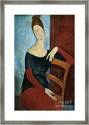 The Artist's Wife Framed Print by Amedeo Modigliani