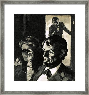 The Assassination Of Abraham Lincoln Framed Print by English School