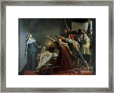 The Assassination Of Marat Framed Print by Jean Joseph Weerts