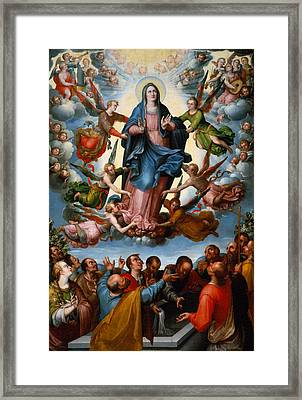 The Assumption Of The Virgin Framed Print by Mountain Dreams