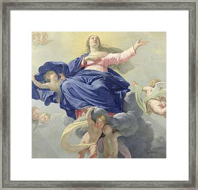 The Assumption Of The Virgin Framed Print by Philippe de Champaigne