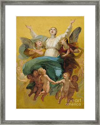 The Assumption Of The Virgin Framed Print by Pierre Paul Prudhon