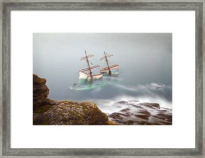 The Astrid Goes Aground Framed Print by Alan Mahon