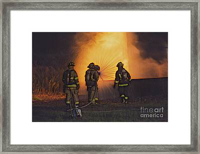 The Attack Framed Print by Jim Lepard