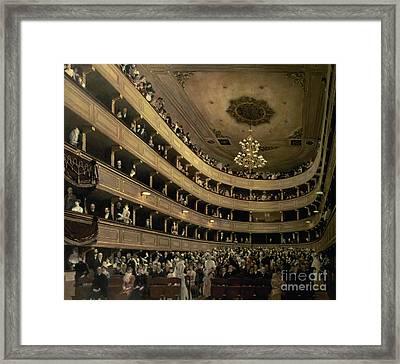 The Auditorium Of The Old Castle Theatre Framed Print by Gustav Klimt