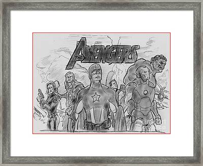 The Avengers Framed Print by Chris  DelVecchio