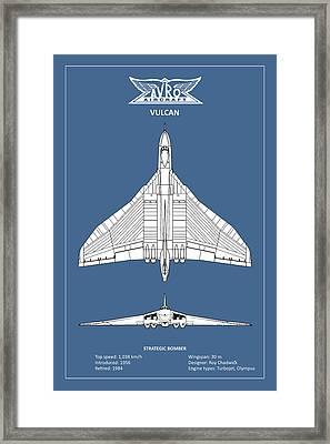 The Avro Vulcan Framed Print by Mark Rogan