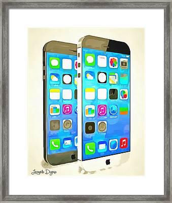 The Awesome Iphone 6 - Da Framed Print by Leonardo Digenio