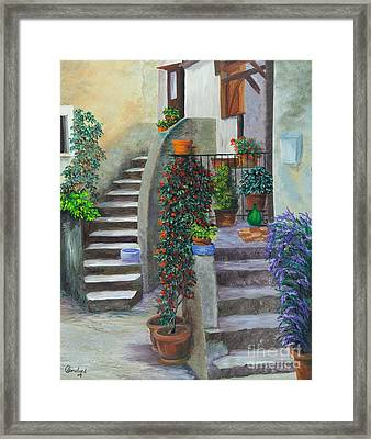 The Back Stairs Framed Print by Charlotte Blanchard