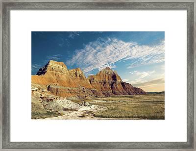 The Badlands Of South Dakota Framed Print by Tom Mc Nemar