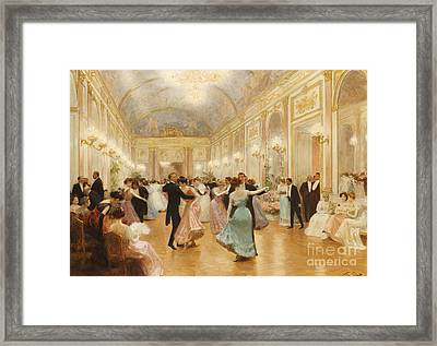 The Ball Framed Print by Victor Gabriel Gilbert