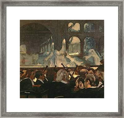 The Ballet Scene From Meyerbeer's Opera Robert Le Diable Framed Print by Edgar Degas