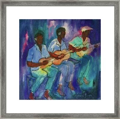 The Band Boys Framed Print by Karen Bower