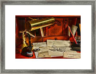The Bankers Desk Framed Print by Paul Ward