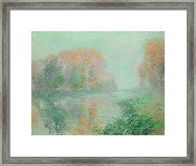 The Banks Of The Eure Framed Print by Gustave Loiseau