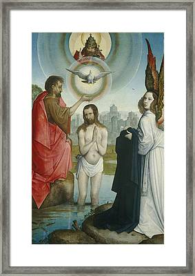 The Baptism Of Christ Framed Print by Juan De Flandes