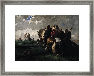 The Barbarians Before Rome Framed Print by Evariste Vital  Luminais