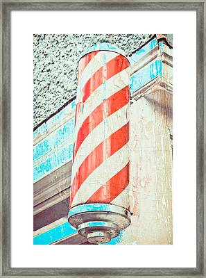 The Barber Framed Print by Tom Gowanlock
