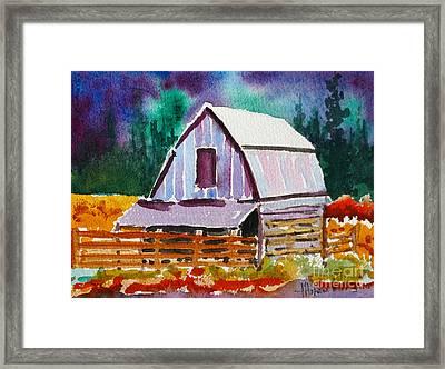 The Barn Framed Print by Mohamed Hirji