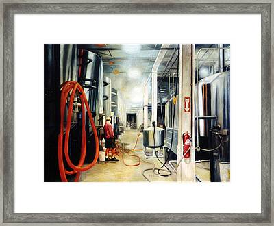 The Bashful Brewer Framed Print by Gregg Hinlicky