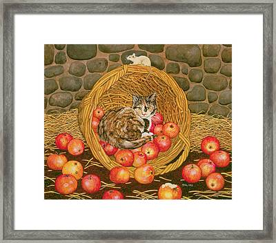The Basket Mouse Framed Print by Ditz