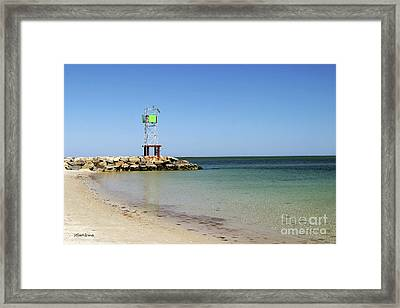 The Bass River Jetty South Yarmouth Cape Cod Massachusetts Framed Print by Michelle Wiarda