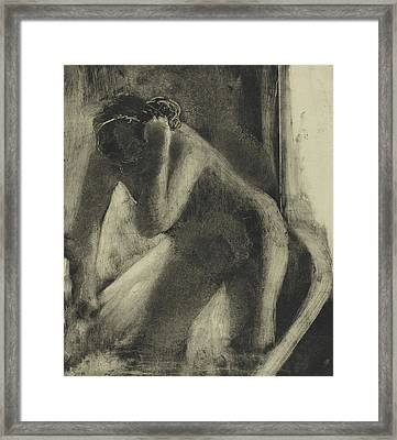 The Bath Framed Print by Edgar Degas
