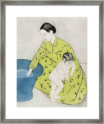 The Bath Framed Print by Mary Stevenson Cassatt