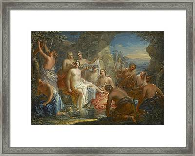 The Bath Of Diana Framed Print by Johann Georg Platzer