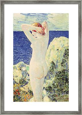 The Bather Framed Print by Childe Hassam