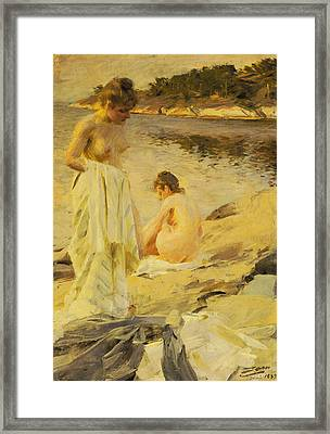 The Bathers Framed Print by Anders Leonard Zorn
