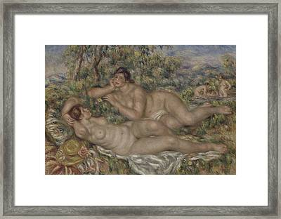The Bathers Framed Print by Auguste Renoir